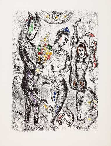 CHAGALL : chagall-pierrot-etching