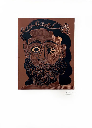PICASSO : homme-barbu-picasso