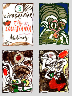 ALECHINSKY : louisiana, lithographs