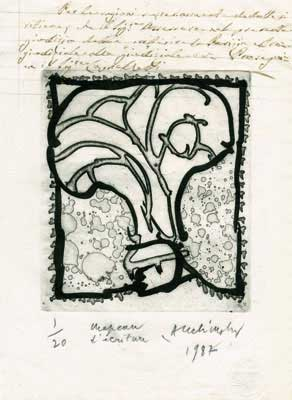 ALECHINSKY : alechinsky-ecriture-etching