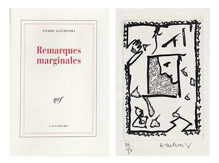 ALECHINSKY : alechinsky-remarques-book