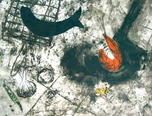 BARCELO : Nature morte, etching
