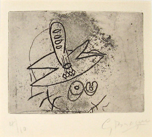 BRAQUE : nature morte-etching