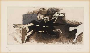 BRAQUE : braque-jockey-etching
