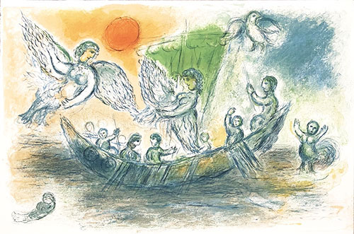 CHAGALL : chagall-sirenes-lithographie