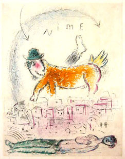CHAGALL : Nime, gravure