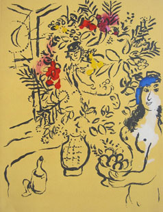 CHAGALL : Couverture de menu