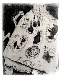 CHAGALL : ames mortes, estampe