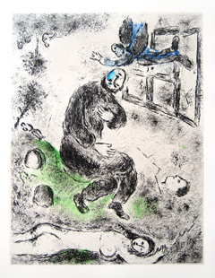 CHAGALL : ange, etching