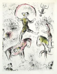 CHAGALL : cirque-etching