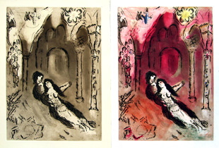 CHAGALL : grenade, etchings