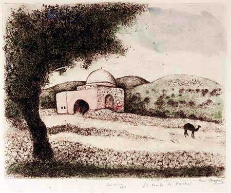 CHAGALL : Chagall-tombeau-etching