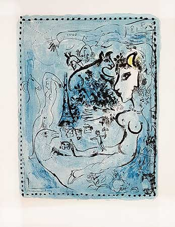 CHAGALL : chagall-nocturne-lithograph