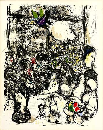 CHAGALL : chagall-bouquet-lithographie