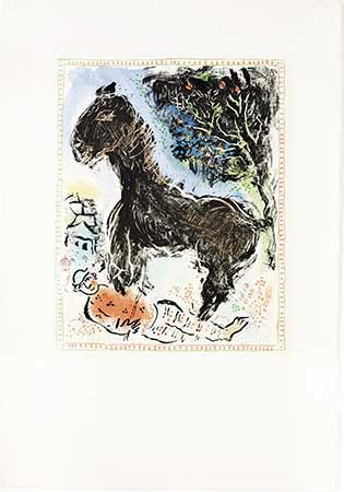CHAGALL : chagall-cheval-lithographie