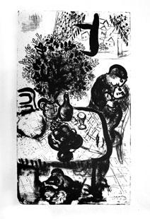 CHAGALL : chagall-table-lithograph