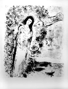CHAGALL : chagall-vierge-lithographie