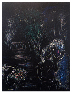 CHAGALL : Chagall-tree-lithograph