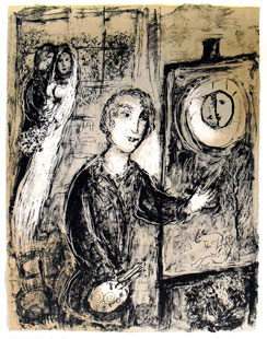 CHAGALL : chagall-maries-lithographie