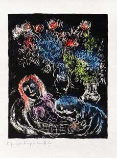 CHAGALL : chagall-couple-etching