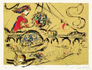 CHAGALL : chagall-ile-lithographie