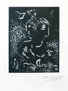 CHAGALL : chagall-linogravure