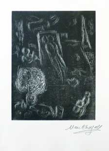 CHAGALL : chagall-atelier-linocut