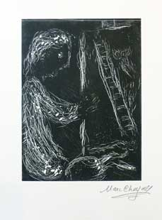 CHAGALL : chagall-linocut-painter