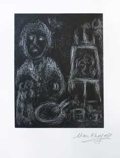 CHAGALL : chagall-painter-linocut