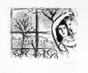 CHAGALL : chagall-couple-lithographie