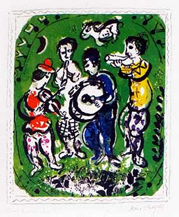 CHAGALL : chagall-musiciens-lithographie