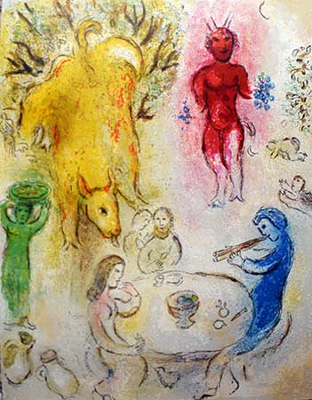 CHAGALL : chagall-pan-lithographie