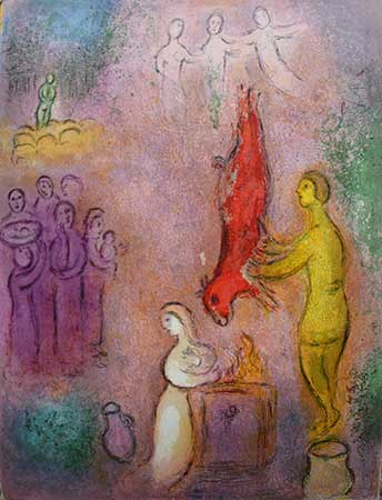 CHAGALL : chagall-nymphes-lithograph