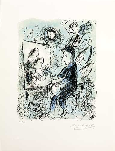CHAGALL : clarte-chagall-lithographie