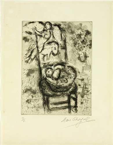 CHAGALL : chagall-corbeille-etching