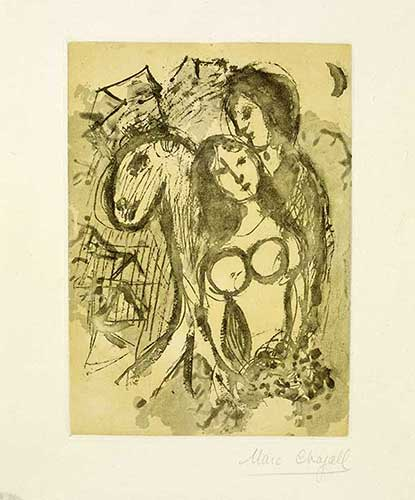 CHAGALL : amoureux-chagall-gravure