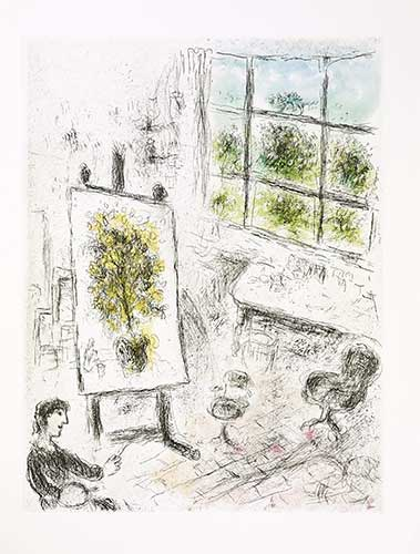 CHAGALL : choses-chagall-etching