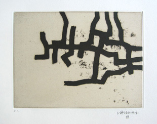CHILLIDA : continuation3, etching