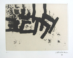 CHILLIDA : continuation2, etching