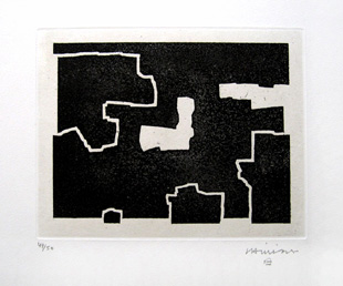 CHILLIDA : burni bizitu, etching
