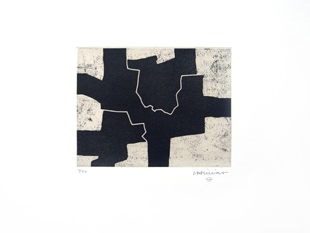 CHILLIDA : gaur, etching