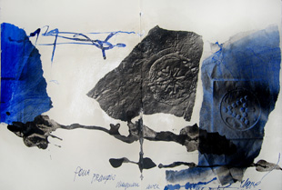 CLAVE : Clave, ink and collage