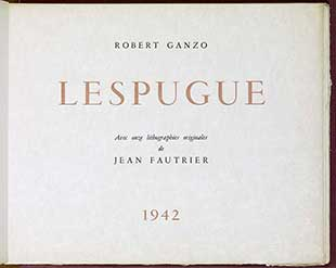 FAUTRIER : fautrier-lespugue-book