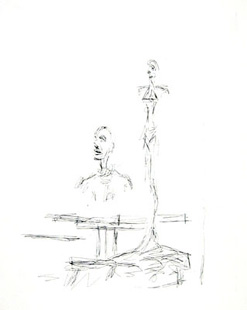 GIACOMETTI : paroles peintes II, etching