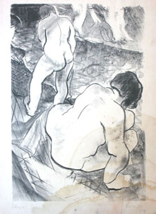 HAYTER : baigneuses, lithographie