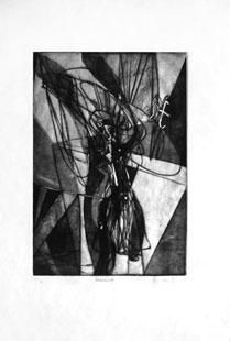 HAYTER : descent, etching