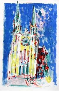 LORJOU : cathedrale-lorjou-lithographie