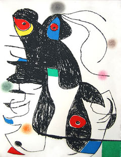 MIRO : paroles peintes V, engraving
