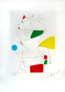 MIRO : hommage a san lazzaro, etching