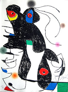MIRO : paroles peintes estampe